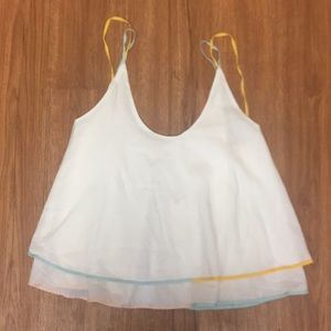NWT Anthropologie Saturday Sunday flutter tank top